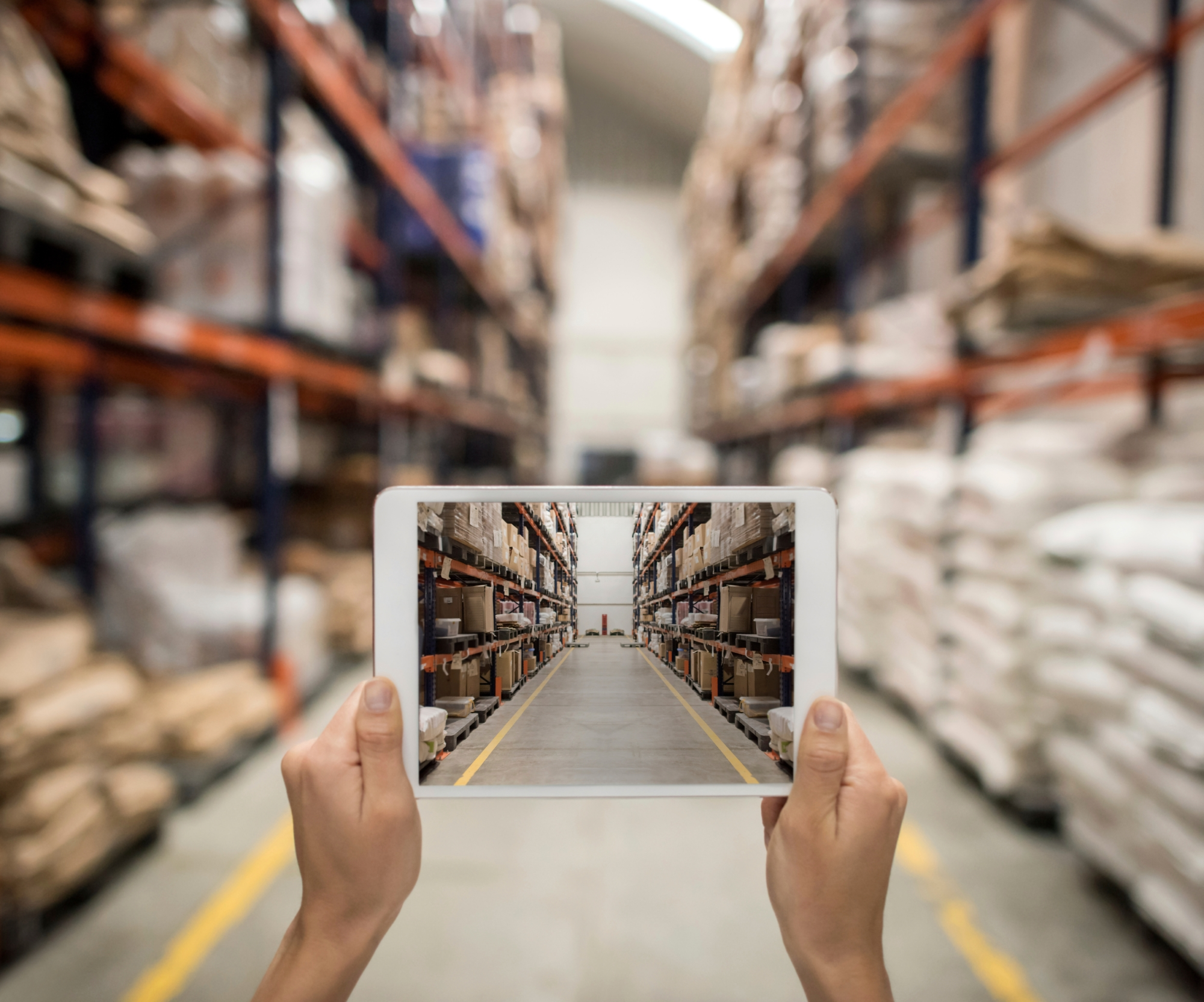 Ordering online from a distribution warehouse on a tablet computer
